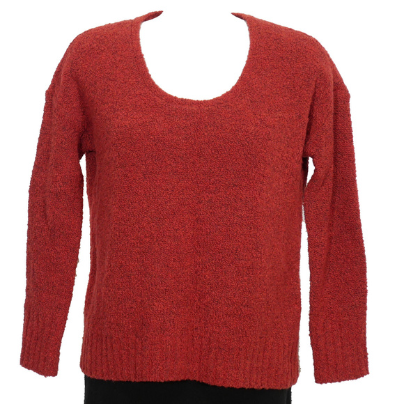 2894e3f0d24 Red Wool Cashmere Melange Boucle Boxy Sweater XS. NWT. Eileen Fisher